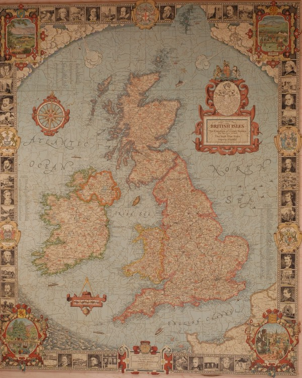 Liberty Puzzles - National Geographic map of the British Isles,