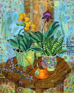 Orchids in East Window wooden jigsaw puzzle