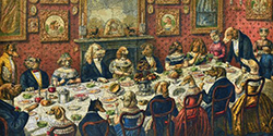 Harrison Weir The Dog's Dinner Party wooden jigsaw puzzle