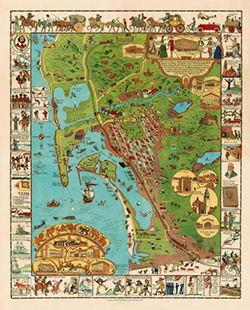A Whimsical Map of San Diego - Wooden Jigsaw Puzzle