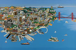 San Francisco wooden jigsaw puzzle