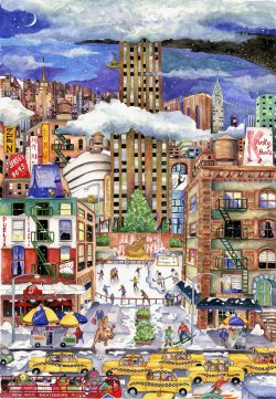 Light Snowfall in NYC wooden jigsaw puzzle