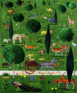 The Menagerie by Rebecca Campbell wooden jigsaw puzzle