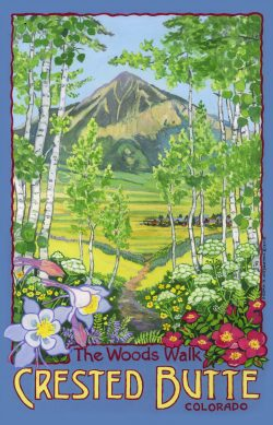 The Woods Walk, Crested Butte, Colorado wooden jigsaw puzzle