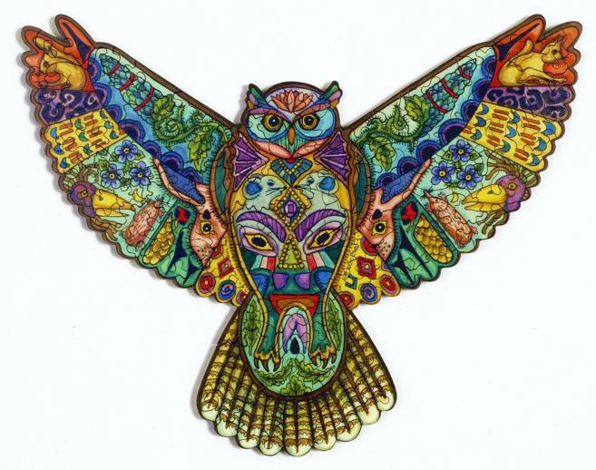 Great Horned Owl XS - Liberty Puzzles - 5