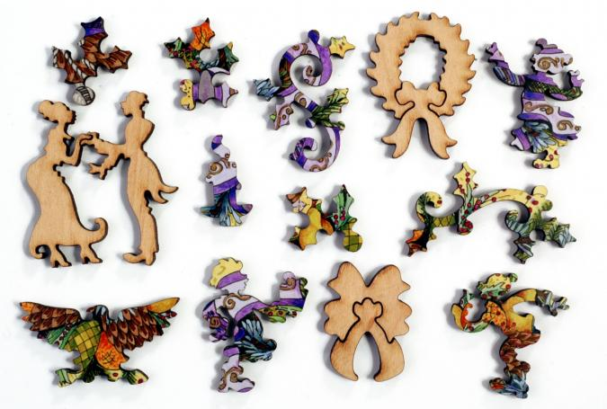 Royal Ribbon Wreath - Liberty Puzzles - 8