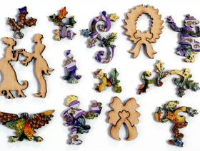 Royal Ribbon Wreath - Liberty Puzzles - 4