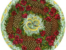 Pinecone and Pomegranate Wreath - Liberty Puzzles - 1