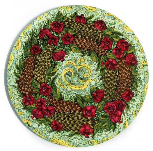 Pinecone and Pomegranate Wreath - Liberty Puzzles - 6