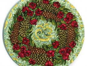 Pinecone and Pomegranate Wreath - Liberty Puzzles - 2