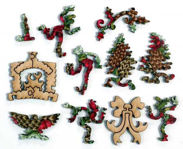 Pinecone and Pomegranate Wreath - Liberty Puzzles - 8
