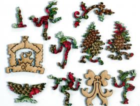 Pinecone and Pomegranate Wreath - Liberty Puzzles - 4