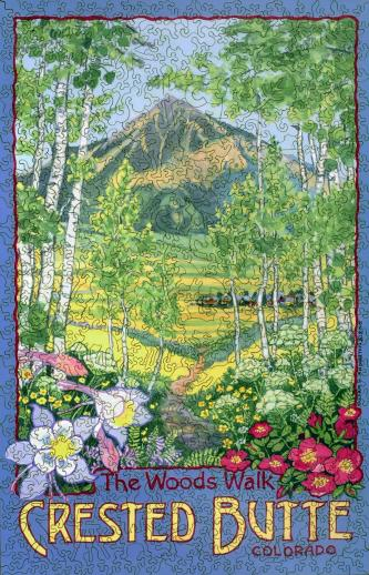 The Woods Walk, Crested Butte, Colorado - Liberty Puzzles - 7