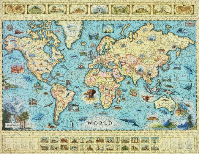 The World Map - Liberty Puzzles - 7