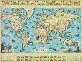 The world map wooden jigsaw puzzle liberty puzzles made in the usa the world map liberty puzzles 12 gumiabroncs Choice Image