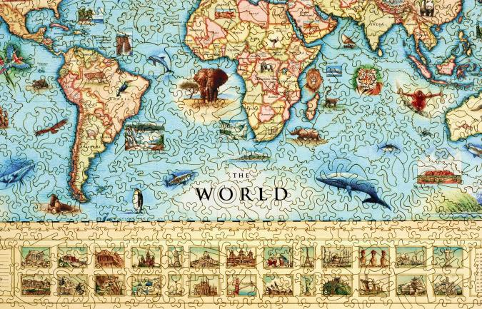 The World Map - Liberty Puzzles - 8