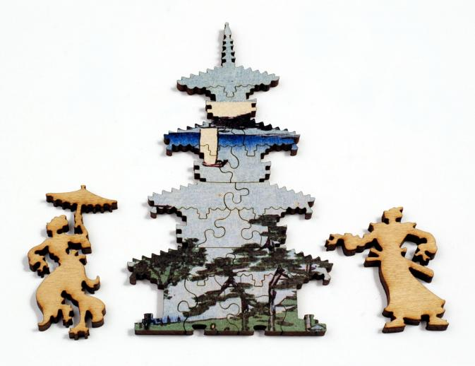 Suijin Shrine and Massaki on the Sumida River - Liberty Puzzles - 14