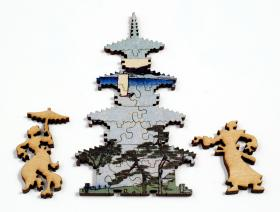 Suijin Shrine and Massaki on the Sumida River - Liberty Puzzles - 7