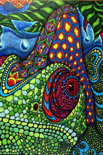 Chameleon Wooden Jigsaw Puzzle Liberty Puzzles Made