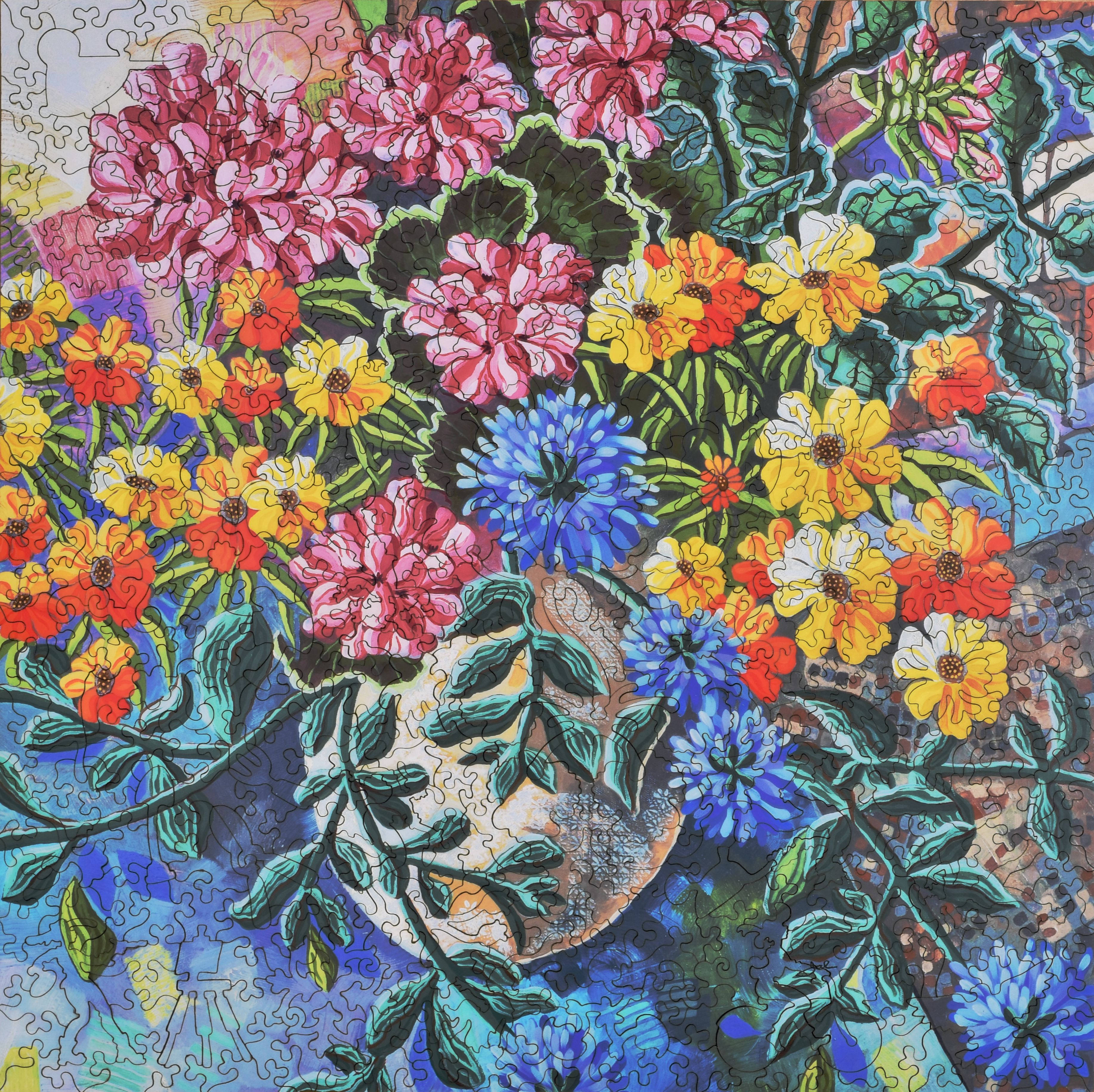 Summer Geraniums Wooden Jigsaw Puzzle Liberty Puzzles