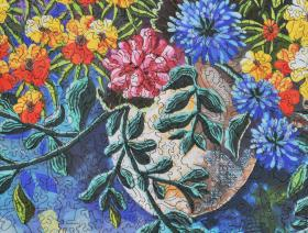 Summer Geraniums - Liberty Puzzles - 3