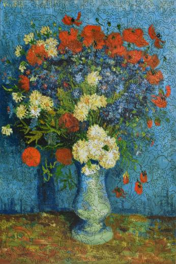 Vase with Cornflowers and Poppies - Liberty Puzzles - 6