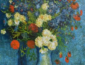 Vase with Cornflowers and Poppies - Liberty Puzzles - 2