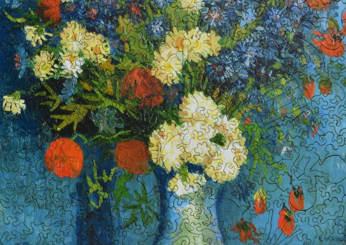 Vase with Cornflowers and Poppies - Liberty Puzzles - 7