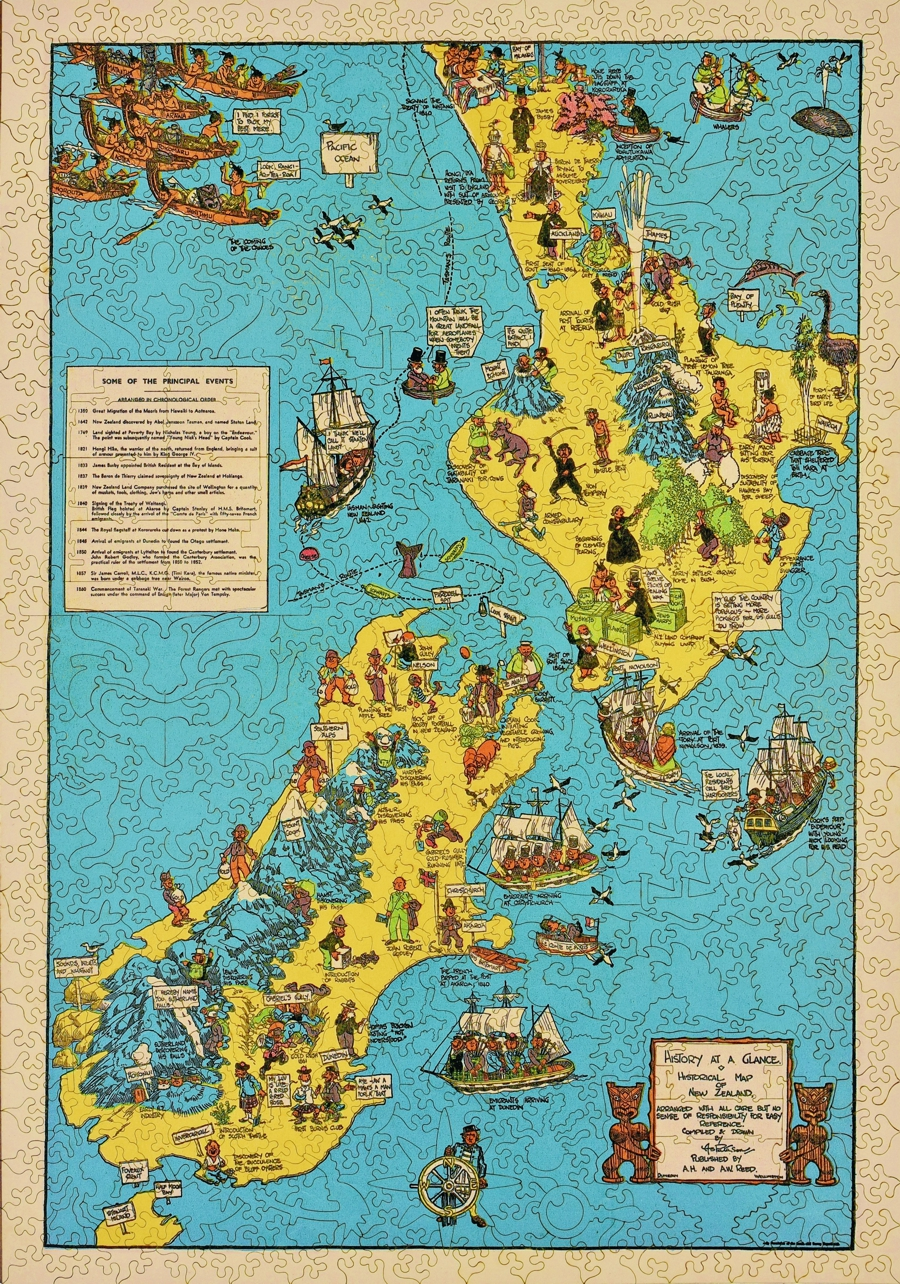 Historical Map Of New Zealand Puzzle