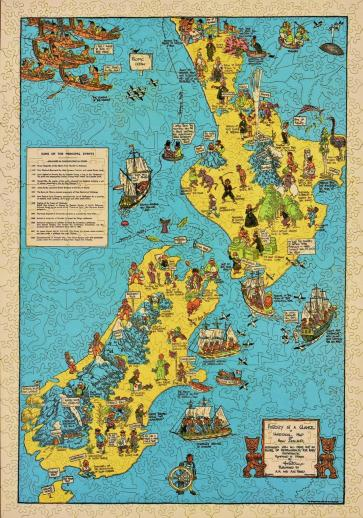 Historical Map of New Zealand - Liberty Puzzles - 9