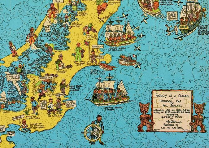 Historical Map of New Zealand - Liberty Puzzles - 10