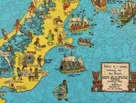 Historical Map of New Zealand - Liberty Puzzles - 3