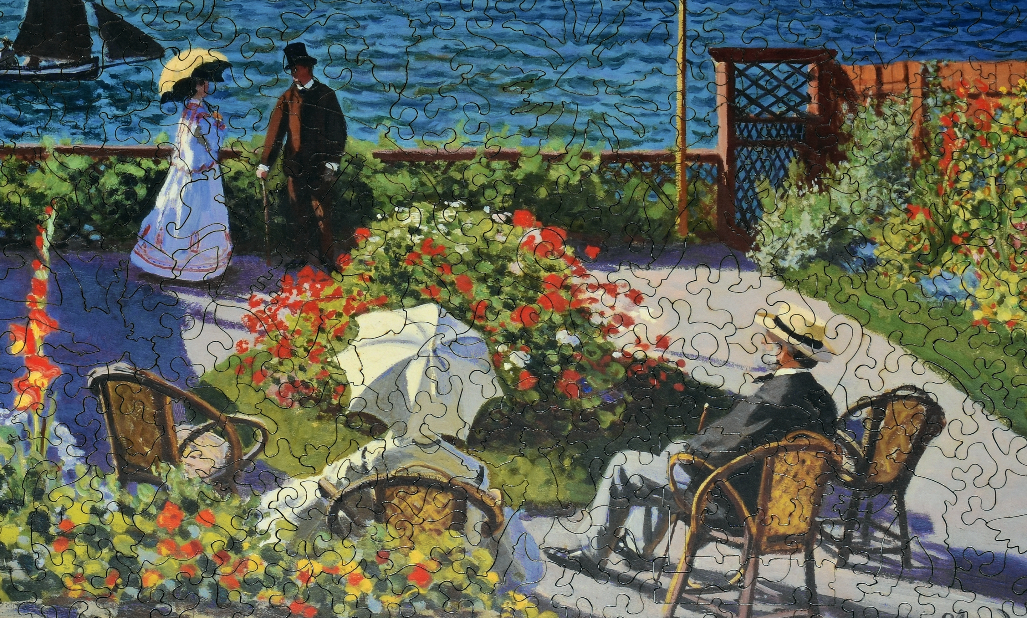 Garden At Sainte Adresse Wooden Jigsaw Puzzle Liberty