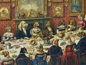 The Dogs Dinner Party - Liberty Puzzles - 3