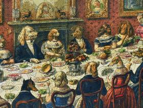 The Dogs Dinner Party - Liberty Puzzles - 4