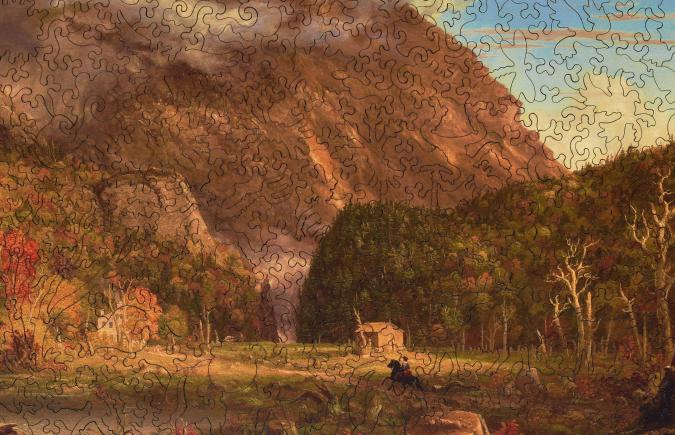 The Notch Of The White Mountains Wooden Jigsaw Puzzle
