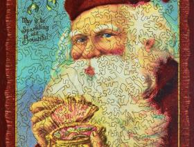 Jewel Box Santa - Liberty Puzzles - 2