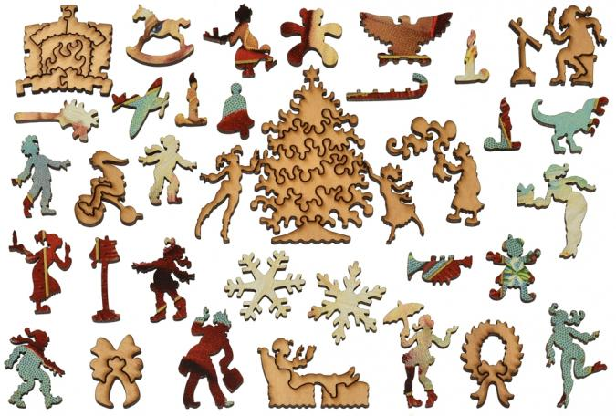 Jewel Box Santa - Liberty Puzzles - 10