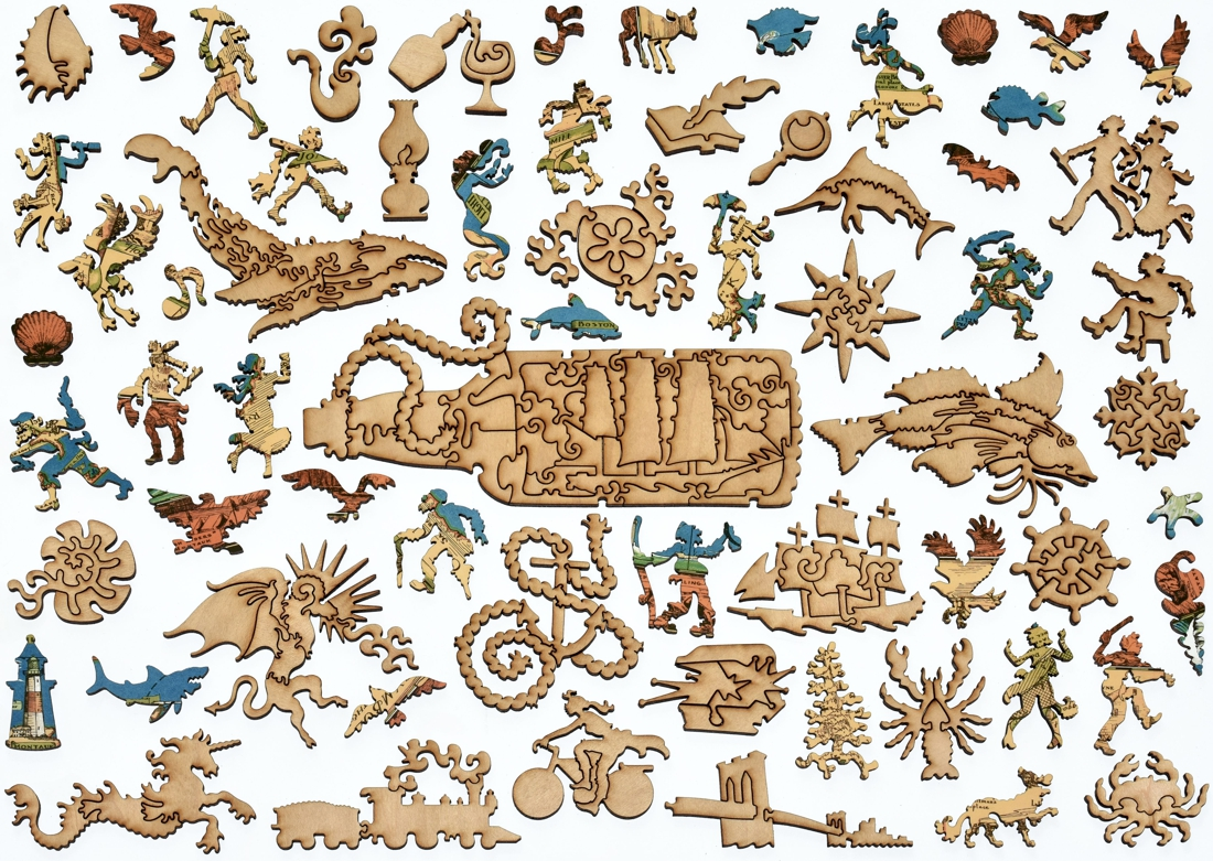 Map Of Long Island Wooden Jigsaw Puzzle Liberty Puzzles Made In The Usa
