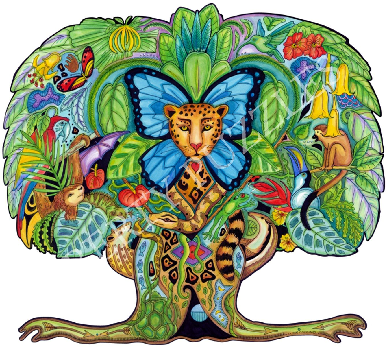 tree of life wooden jigsaw puzzle liberty puzzles made in the usa