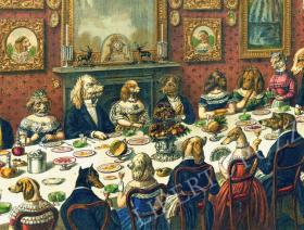 The Dogs Dinner Party - Liberty Puzzles - 1
