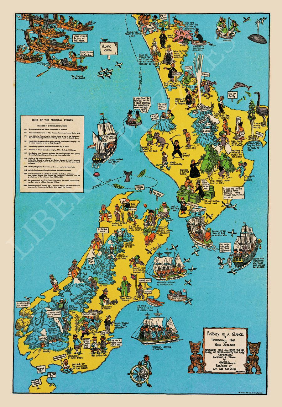 Detailed Map Of New Zealand.Historical Map Of New Zealand