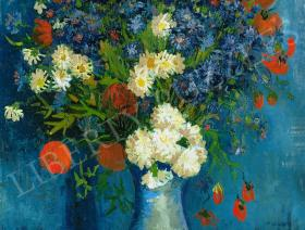 Vase with Cornflowers and Poppies - Liberty Puzzles - 1
