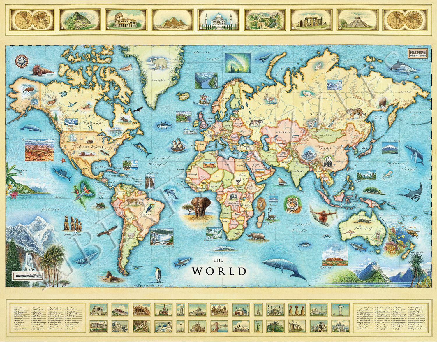 The World Map - Wooden Jigsaw Puzzle - Liberty Puzzles - Made in the USA