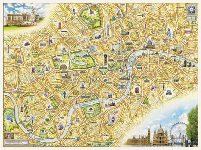 London Xplorer Map - Liberty Puzzles - 11