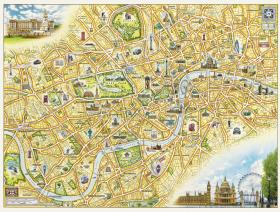 London Xplorer Map - Liberty Puzzles - 1