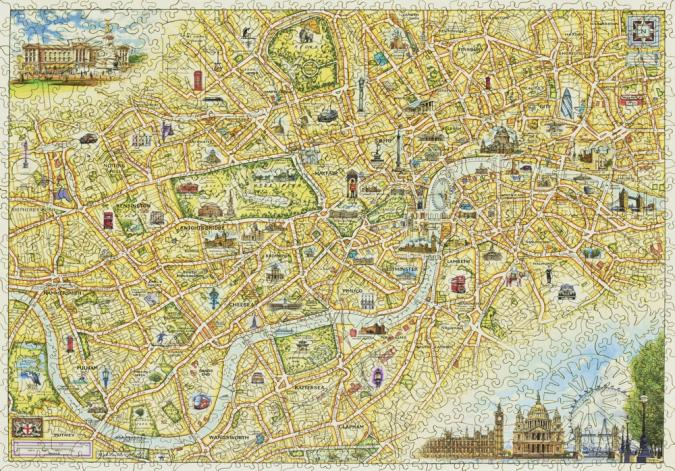 London Xplorer Map - Liberty Puzzles - 12