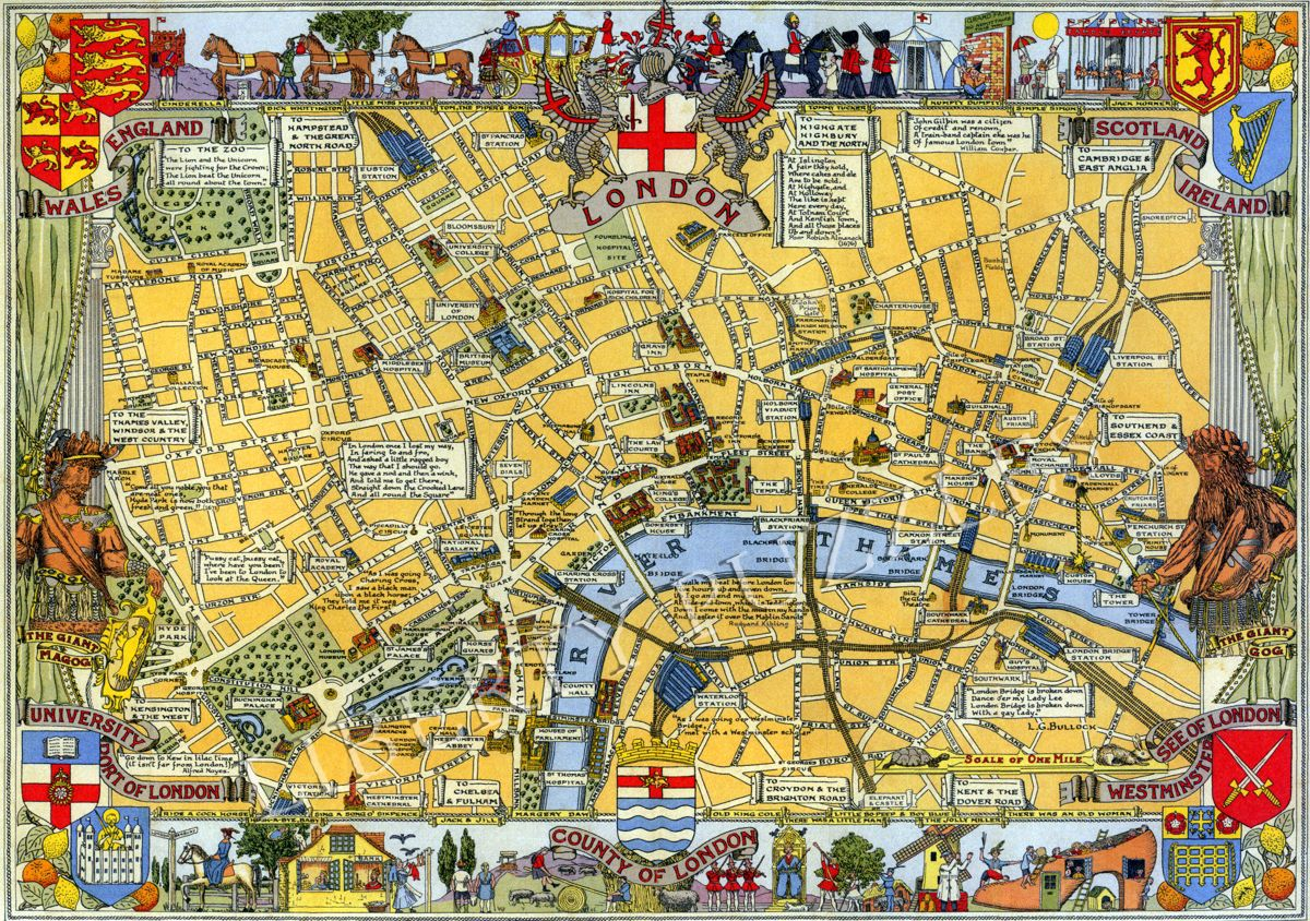 Map To London.Map Of London