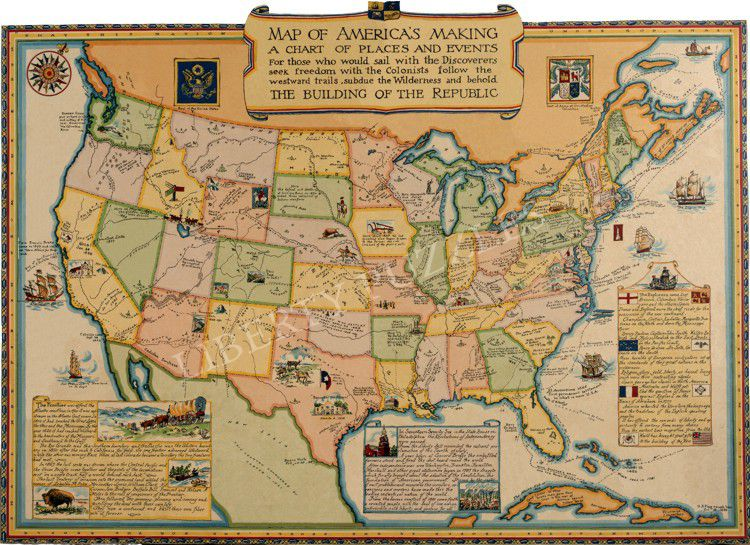 Picture Of Map Of America.Map Of America S Making