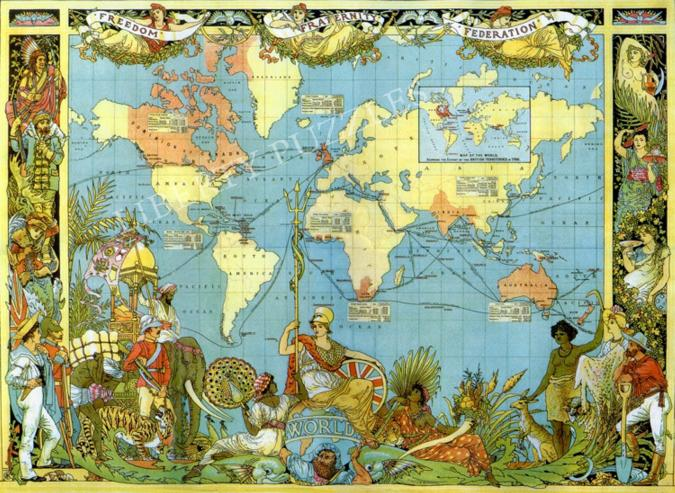 Map of the British Empire in 1886 - Liberty Puzzles - 6